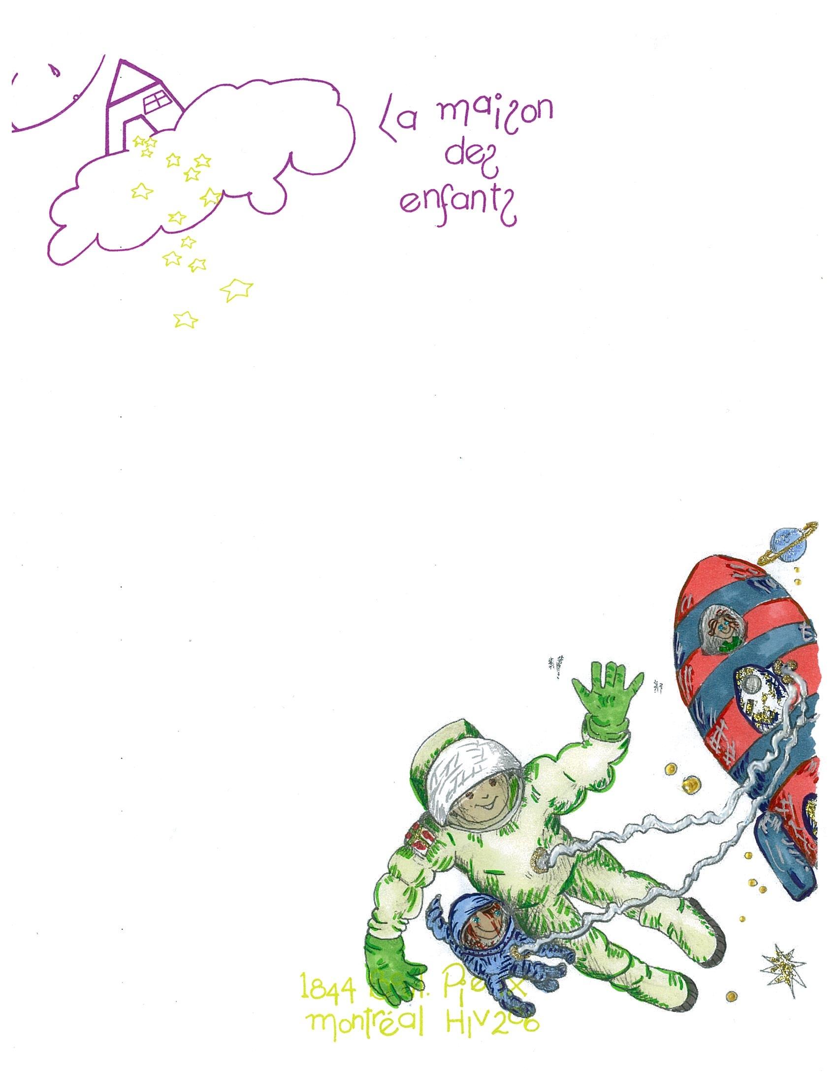 papier lettre astronaute