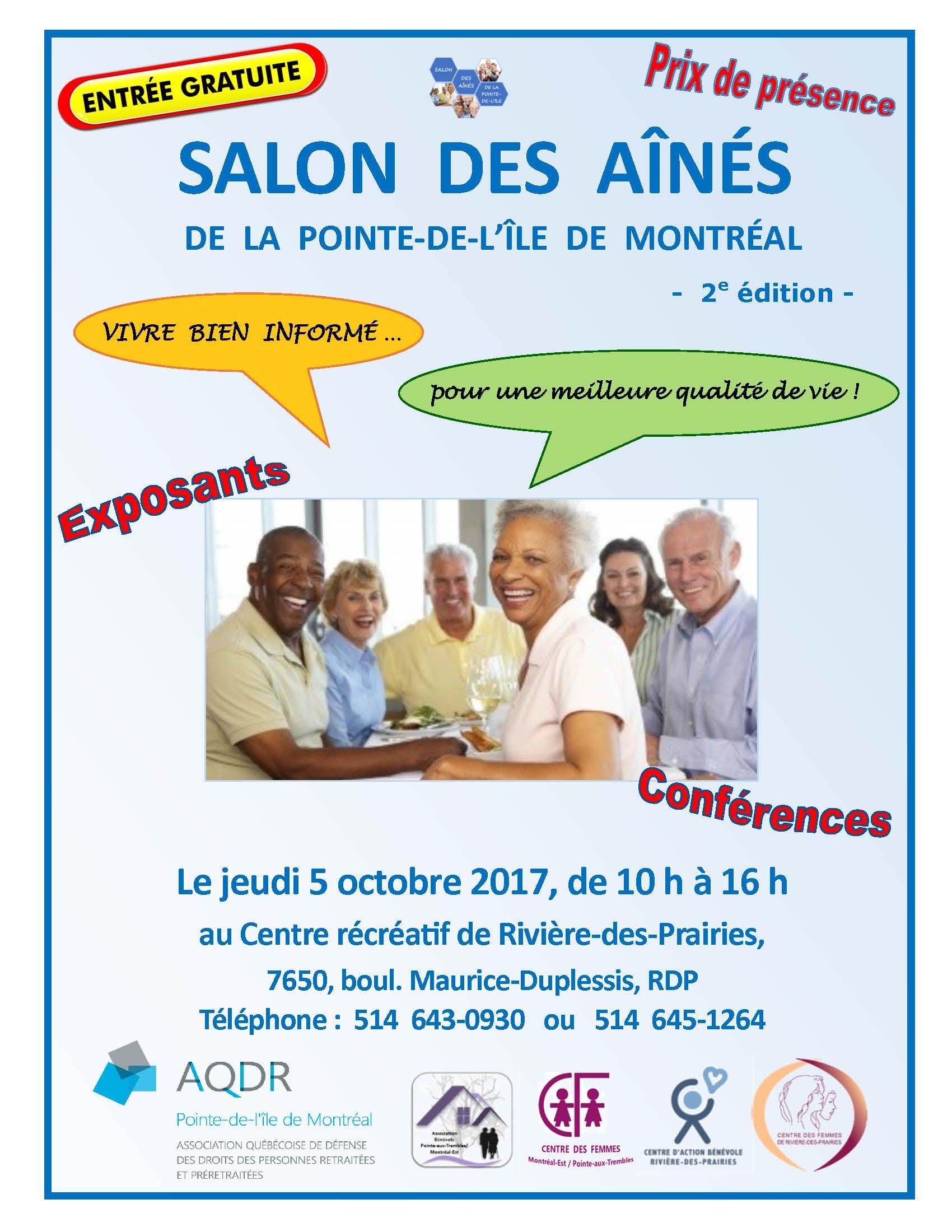 Affiche Poster du Salon des Aines 2017