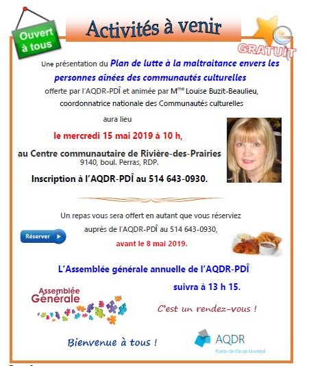 Annonce journal 2019 AGA