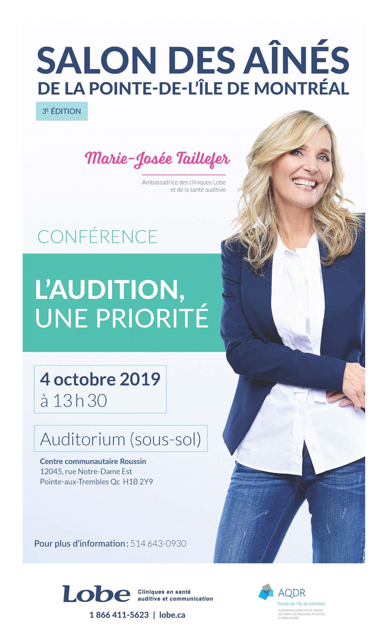 Affiche Marie Josée Taillefer LOBE